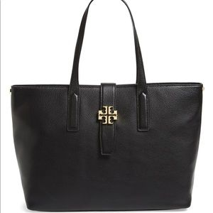 Tory Burch 'Plaque' Leather Tote